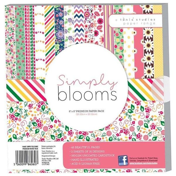 "Simply Bloom Paper Pack 8"" x 8"""