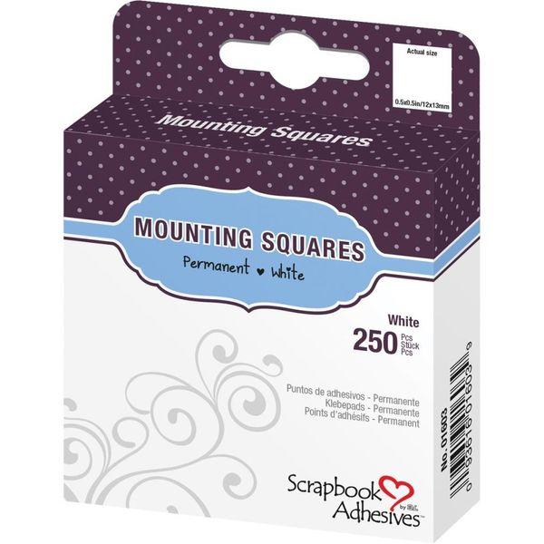 "Mounting Squares Permanent, White, 0.5"" X 0.5"""