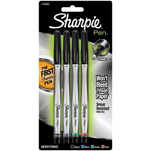 Black, Blue, Red & Green - Sharpie Pen