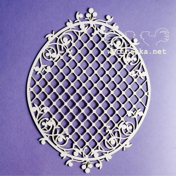 Blueberry Swirls - Big Frame with Lattice