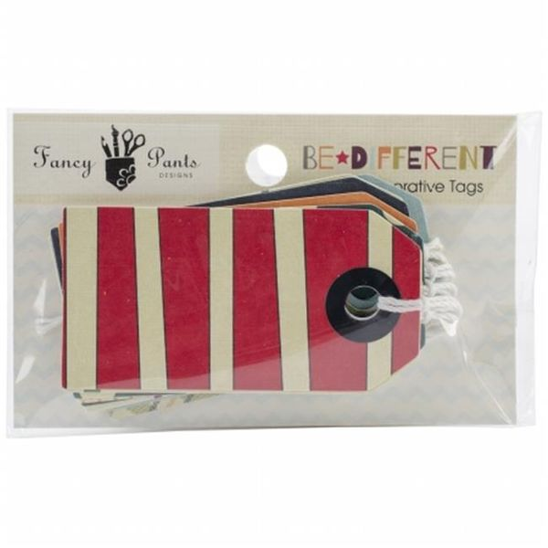 Be Different Decorative Tags 8-Pkg-Small