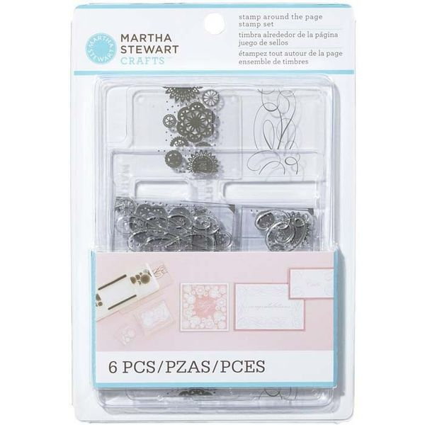 Calligraphy and Doily All Around the Page Stamp & Template set