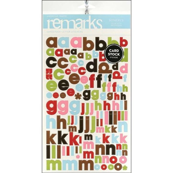 Remarks Cardstock Stickers