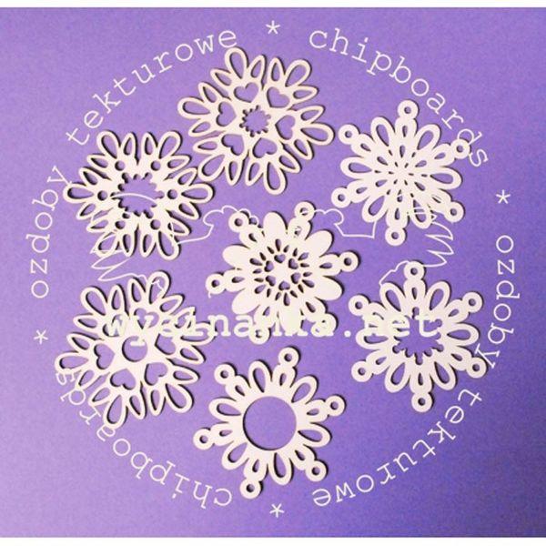 Stylized Snowflakes - 7 pcs.