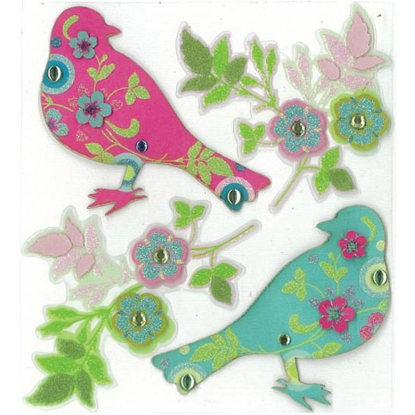 Printed Birds Stickers