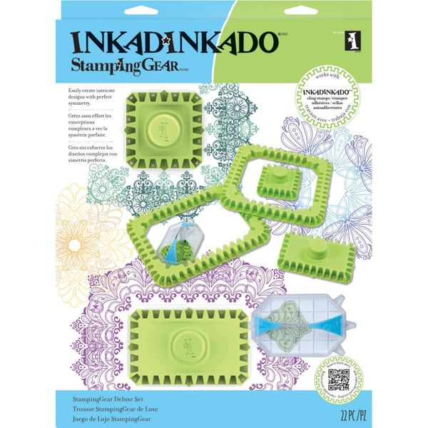 Inkadinkado Stamping Gear Deluxe Set - Square & Rectangle
