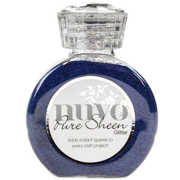 Blue Sapphire-Nuvo Pure Sheen Glitter 3.38oz