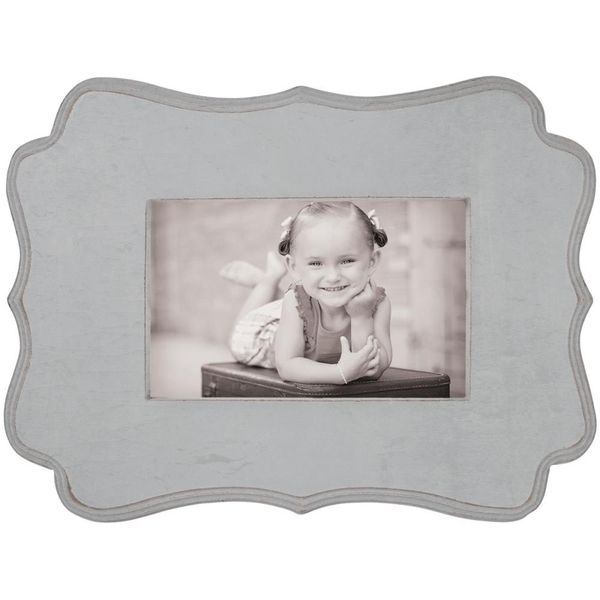 "Gray - Decorative Wooden Frame 10.5""X7.5"""