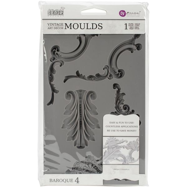 Vintage Art Decor Mould Baroque #4