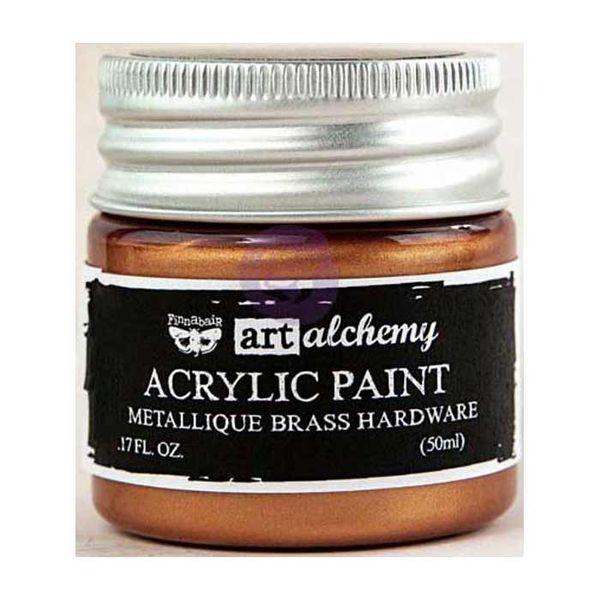Metallique Brass Hardware - Acrylic Paint 1.7oz