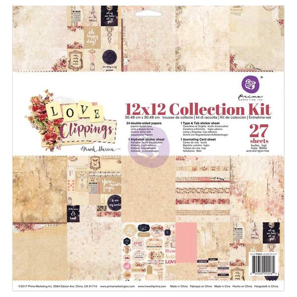 "Frank Garcia Love Clippings - Collection Kit 12""X12"""