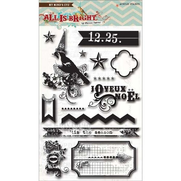 All Is Bright Clear Acrylic Stamps