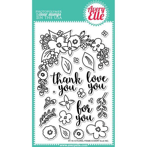 Floral Frame - Stamp