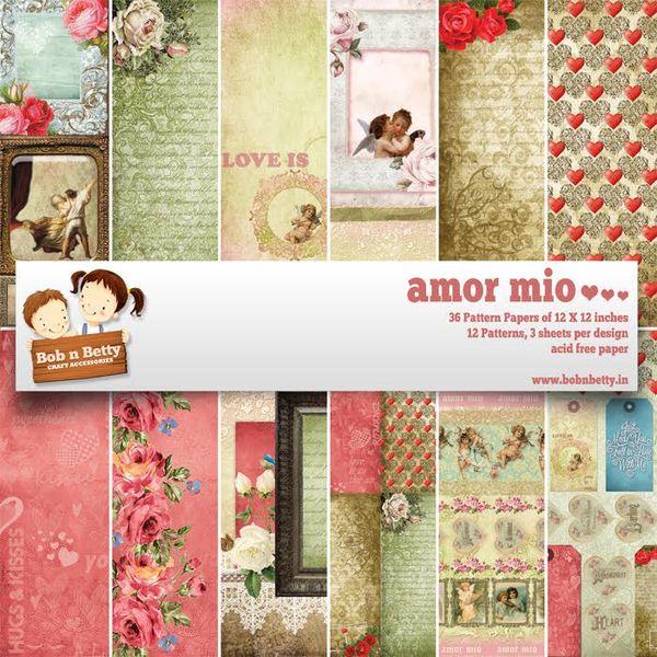 "Amor Mio Paper Pack 12""X12"", 36/pkg"