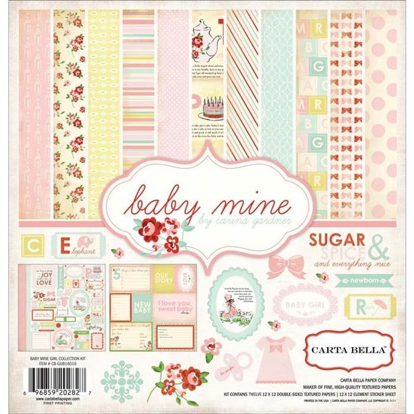 Baby Mine/Girl - Paper Collection Kit