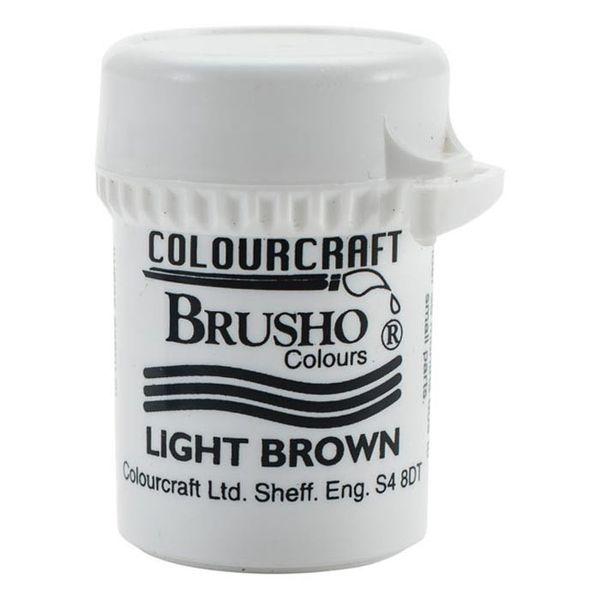 Brusho Crystal Colour 15g - Light Brown