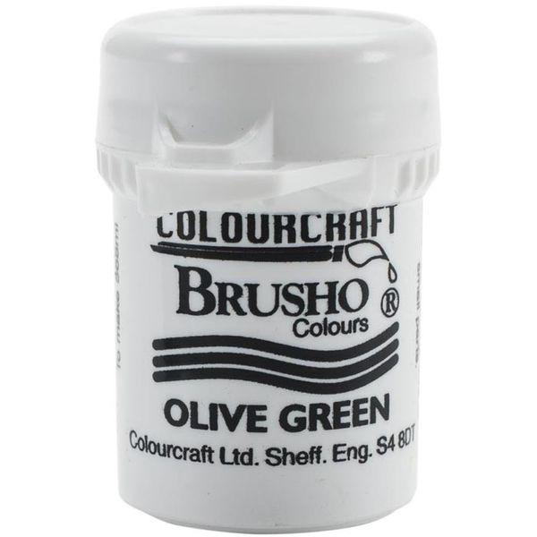 Brusho Crystal Colour 15g - Olive Green