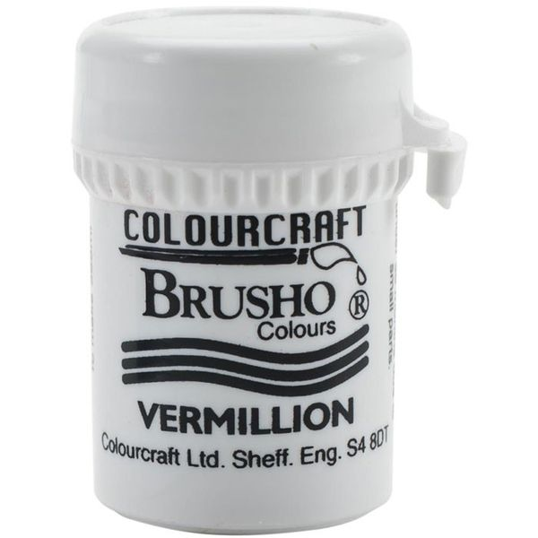 Brusho Crystal Colour 15g - Vermilion