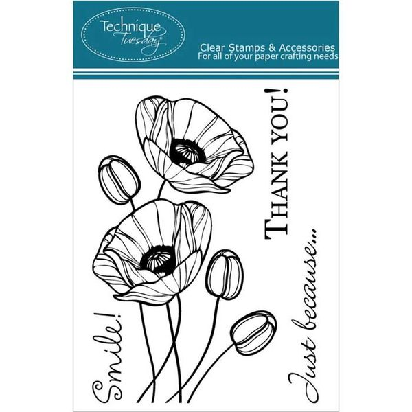 Budding Poppies - Stamp