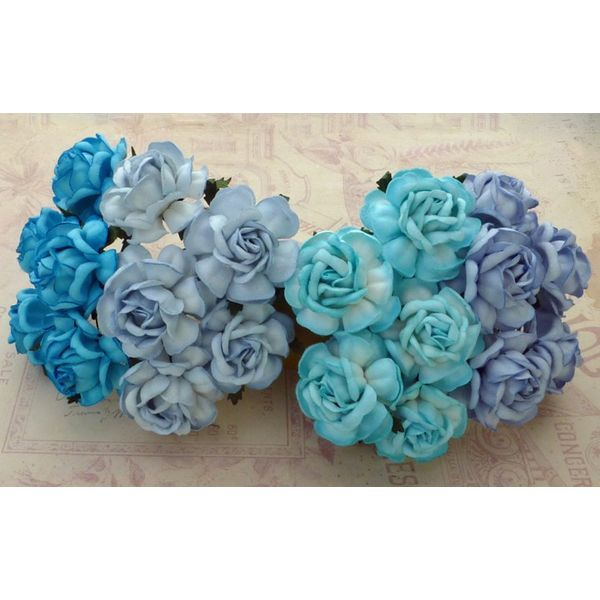 Curved Roses Combo - BLUE TONE