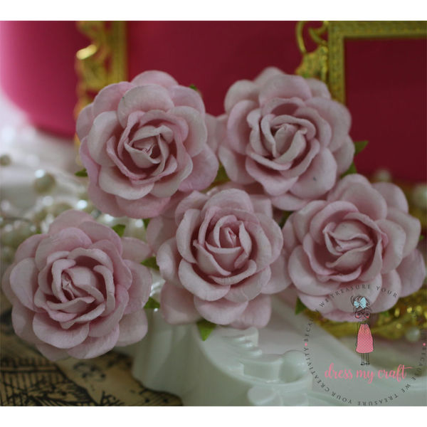Curved Roses 45 MM - Baby Pink