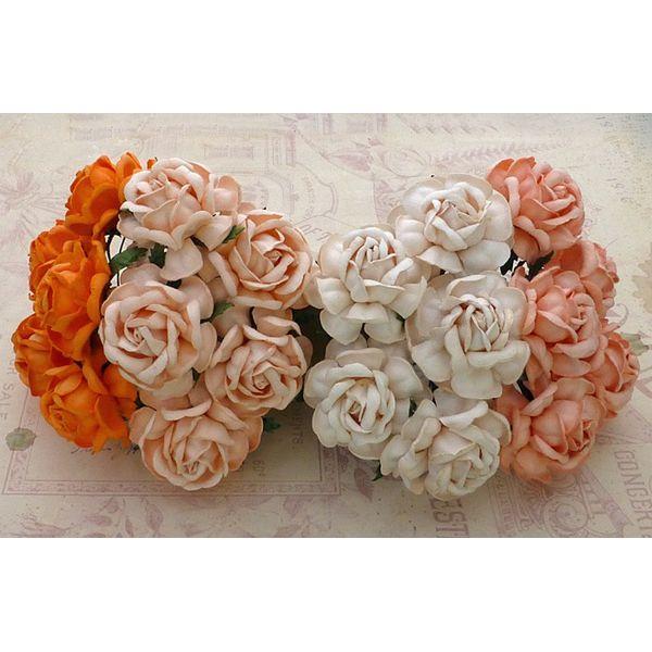 Curved Roses Combo - PEACH/ORANGE