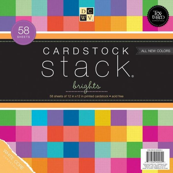 "Brights - Cardstock Stack 12"" X 12"""