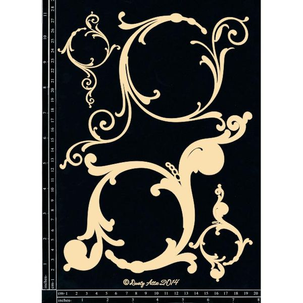 Decorative Scroll #1 - Chipboard Cutouts