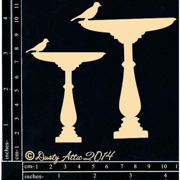 Birdbath 2pk - Chipboard Cutouts