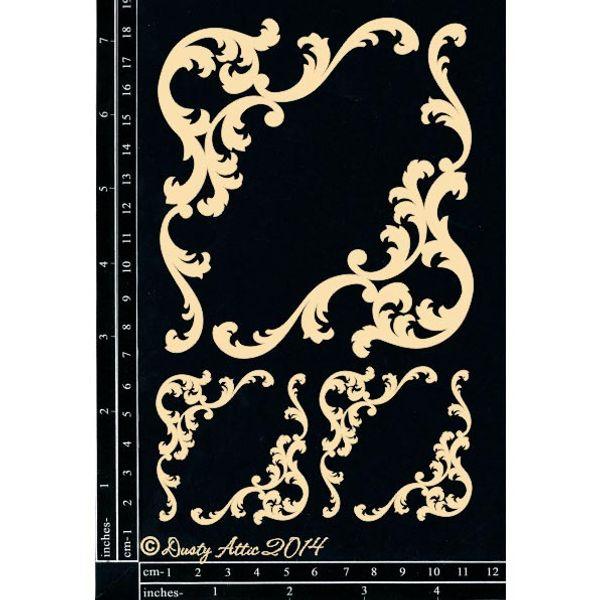 Baroque Corners - Chipboard Cutouts
