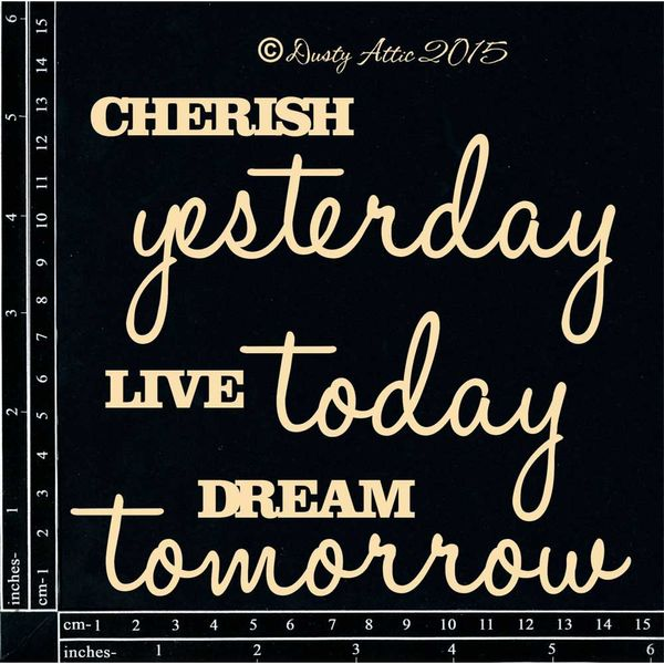 Cherish Yesterday... - Chipboard Cutouts