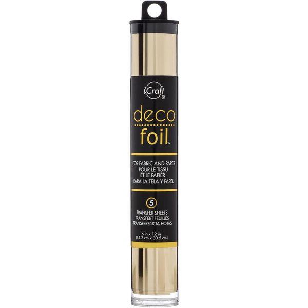 """Champagne - Deco Foil Transfer Sheets 6""""X12"""" 5/Pkg"""