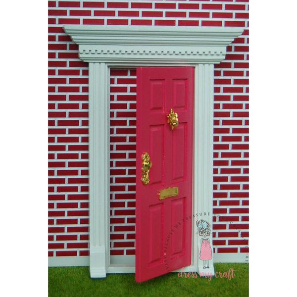 Miniature Anywhere Big Wooden Door - Bright Pink