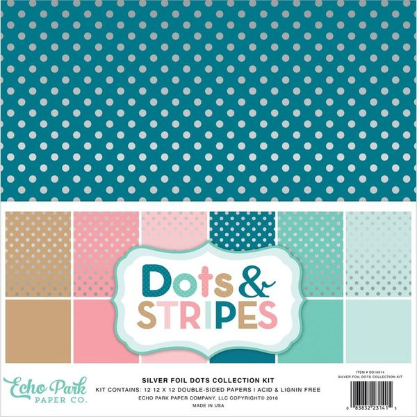 Dots & Stripes W/Silver Foil