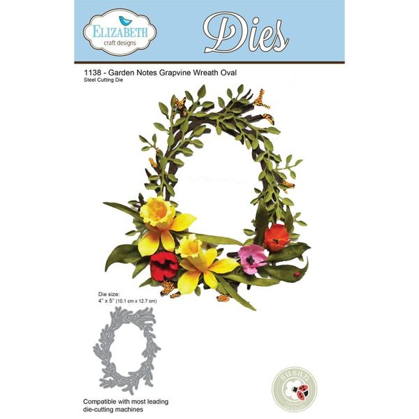 Garden Notes Grapevine Wreath Oval