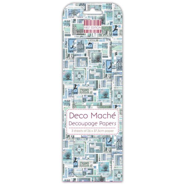 Blue Stamps - Deco Mache Paper