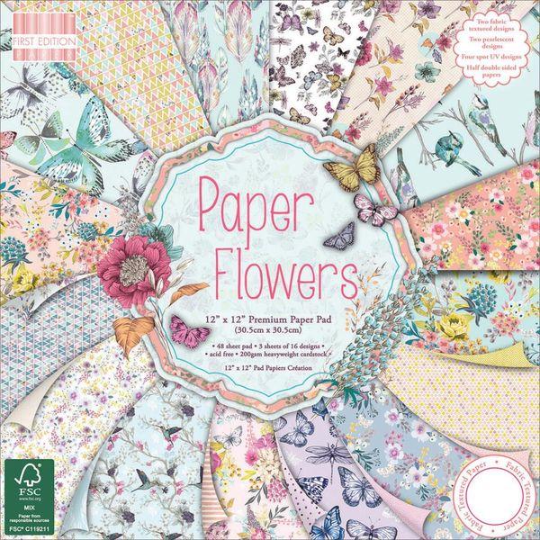 """Paper Flowers Paper 12""""X12"""" 48/Pkg"""