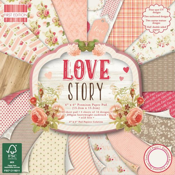 """Love Story - 6"""" X 6"""" Paper"""