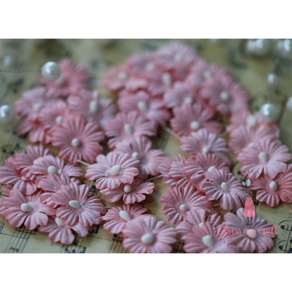 Sakura Flat Flowers with Pollens - Pink