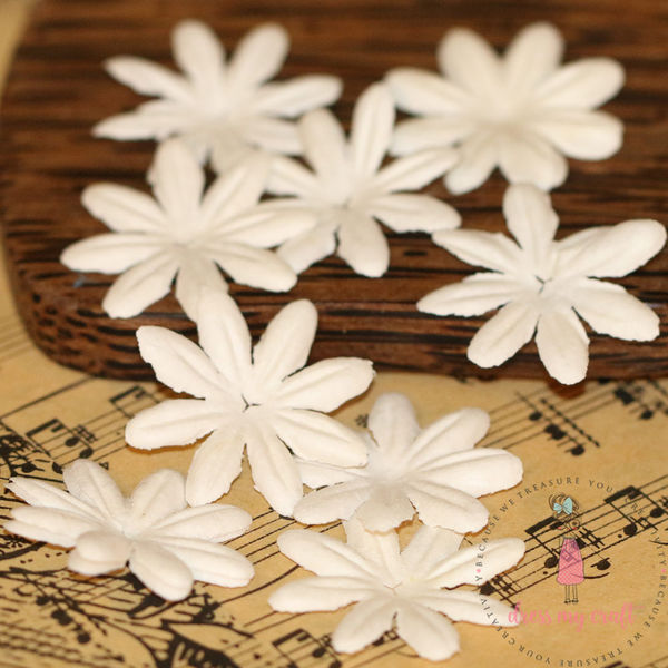 Daisy Flat Flowers - Ivory