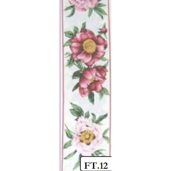 Peony Red - FABRIC TAPES PURE COTTON