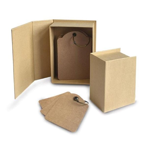 Kraft - Staples Tag Album Book Box