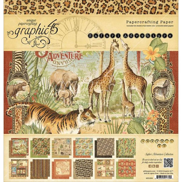 Safari Adventure, 12 Designs/2 Each