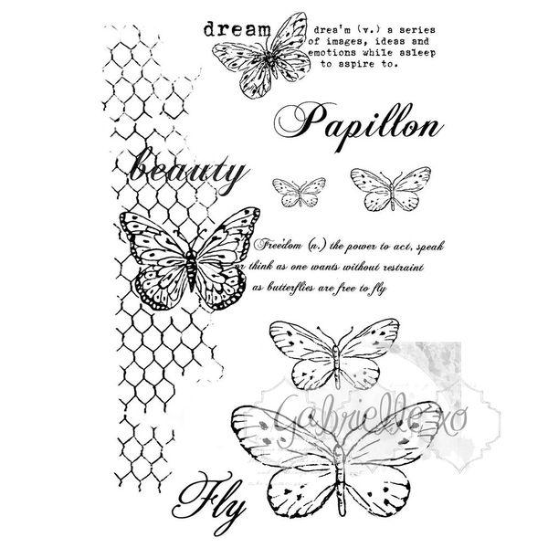 Gabi's Butteflies Are Free - Stamp