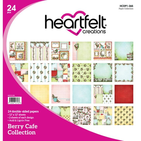 "Berry Cafe 12""X12"" Paper Pad 24/Pkg"