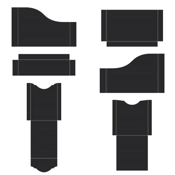 Black - Pocket and Flipfold Inserts A