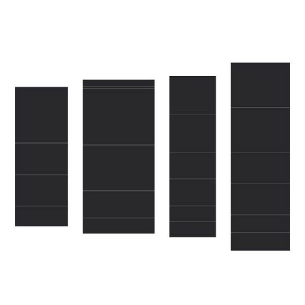Black - Pocket and Flipfold Inserts B