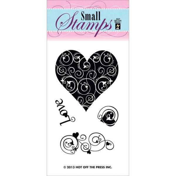 Love & Hearts - Stamp