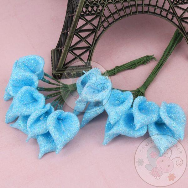 Calla Lily - Glitter Blue