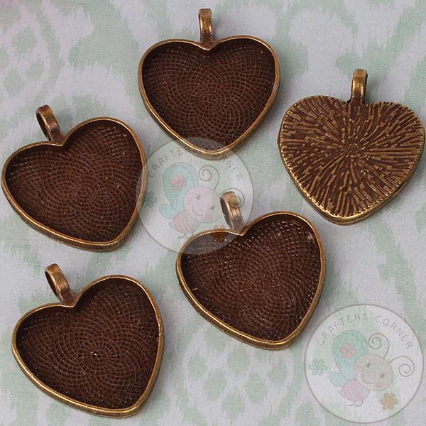 Antique Bronze Heart Pendant